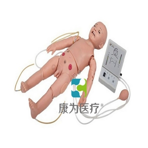 """""""康为医疗""""全功能一岁儿童高级模拟人(护理、CPR、听诊、除颤起博、心电监护五合一)"""
