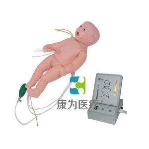 """""""康为医疗""""全功能新生儿高级模拟人(护理、CPR、听诊、除颤起博、心电监护五合一)"""