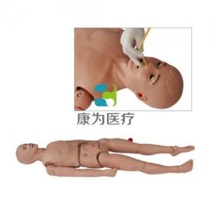 """""""康为医疗""""高级三腔两囊管操作训练标准化模拟病人,三腔两囊管止血训练模型,三腔两囊管模型"""